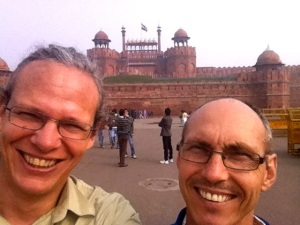 Ralph and Brad at the Red Fort, Delhi