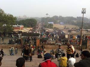 Crowded market, Delhi
