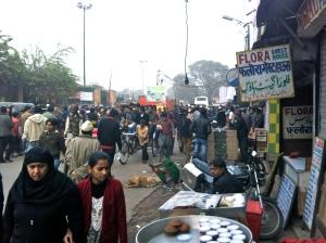 Busy street, Delhi